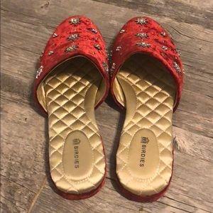Birdies Shoes - Birdies Velvet Bedazzled Slides